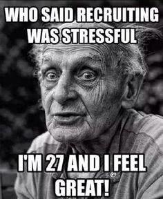 stressed recruiter meme