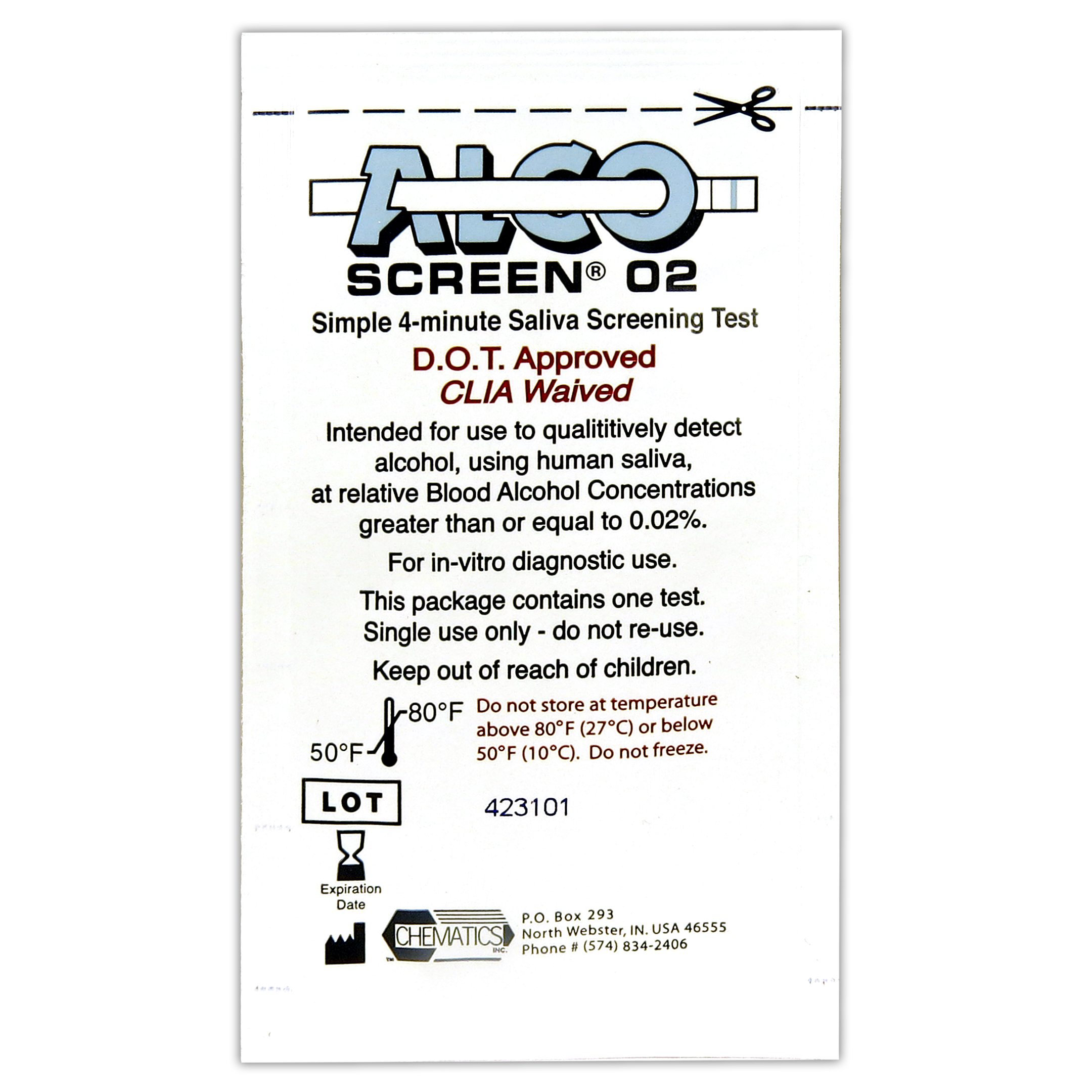 Alco Screen 02 Saliva Test DOT Approved