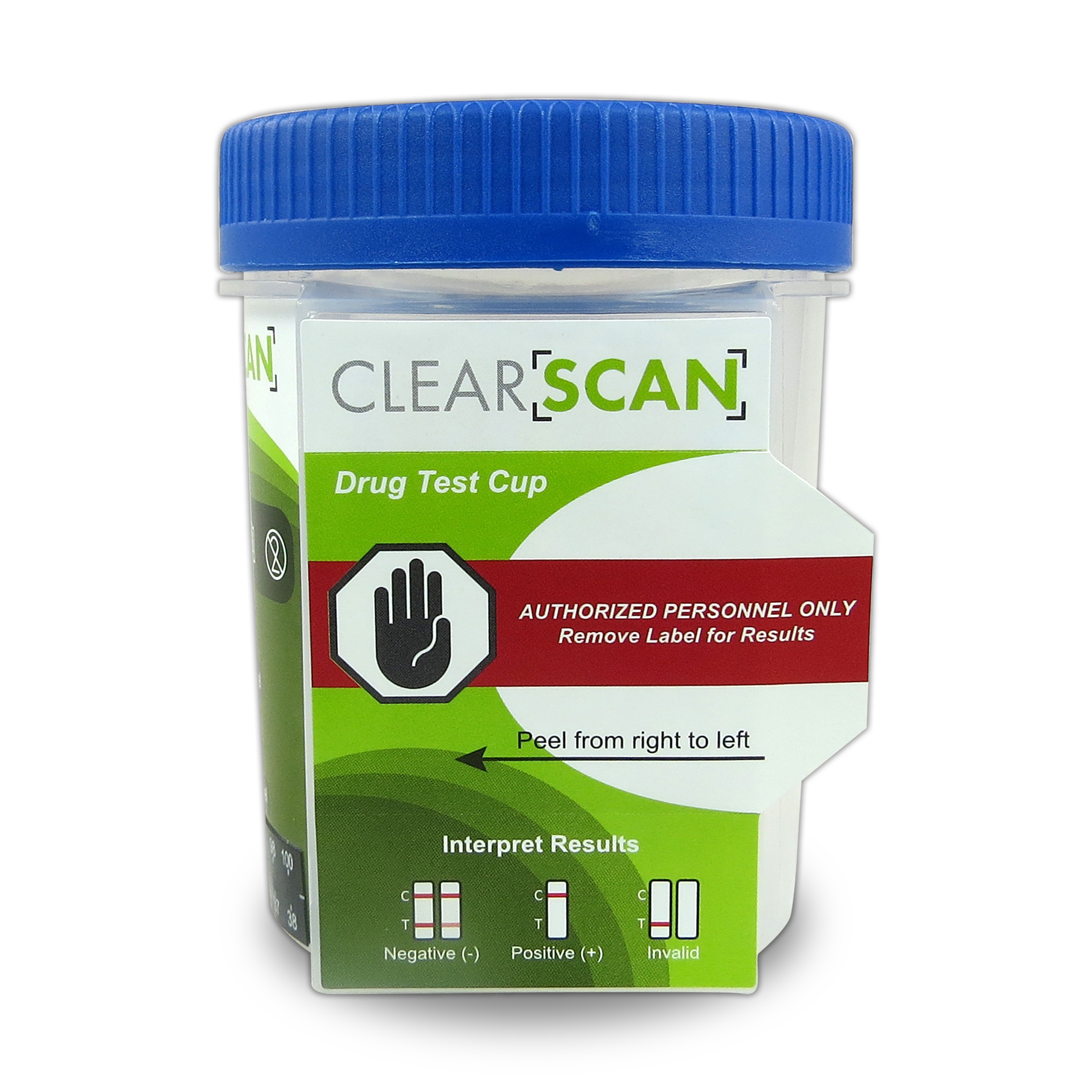 Five Panel Clear Scan Drug Test Cup (CLIA Waived)