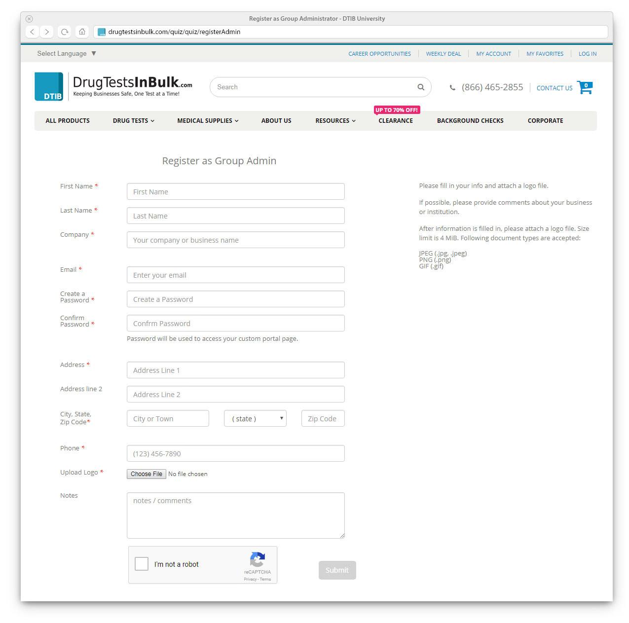 Register as Admin - DTIB University